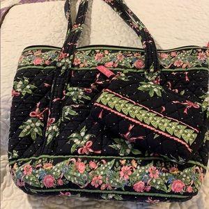 Vera Bradley tote and makeup bag